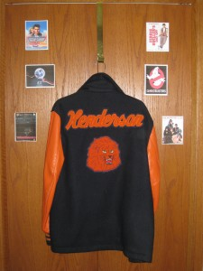 My letter jacket--for the sake of all involved, I didn't try it on.